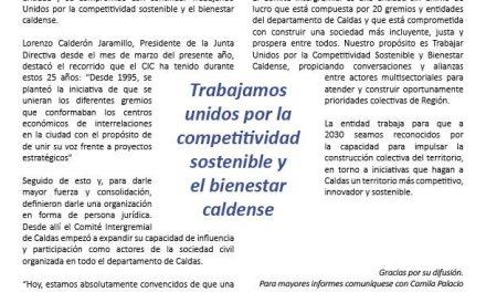 Boletín 005- 25 años del Comite Intergremial de Caldas