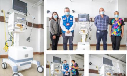 Hospital infantil recibe donación de un ventilador mecánico.