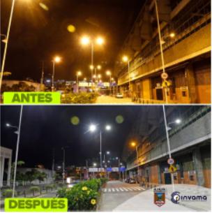 Mejor iluminación en la Avenida Paralela, mayor seguridad para los manizaleños