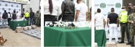 DURO GOLPE A ESTRUCTURA DELINCUENCIAL DEDICADA AL NARCOTRÁFICO EN CALDAS