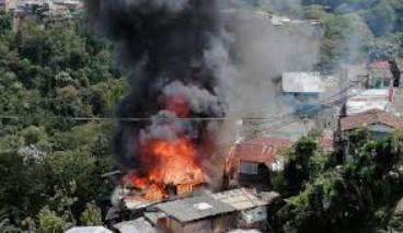 Incendio presentado en el barrio Sierra Morena