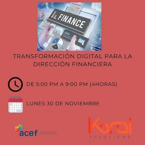 Transformación Digital Para Dirección Financiera