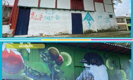 A través de muralismo y urbanismo táctico, Alcaldía de Manizales interviene 14 puntos de la ciudad.