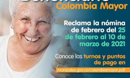 Beneficiario de Colombia Mayor, mañana comienza el pago de la nómina de febrero