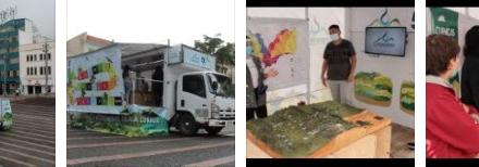La estrategia interactiva llegó a 10 municipios de Caldas. En grupos de 10 personas se hicieron los recorridos por el aula móvil, para que los asistentes conocieran el patrimonio natural de la cuenca que habitan, cumpliendo con las normas de bioseguridad.