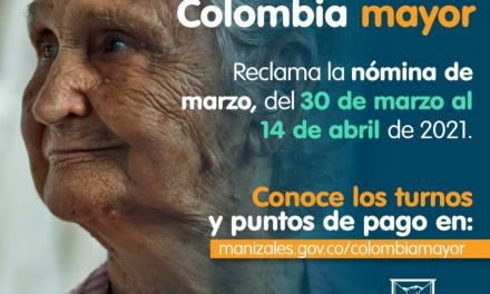 La nómina de marzo del programa Colombia Mayor podrá cobrarse desde mañana