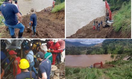 Avanzan labores de rescate de mineros en Neira, gracias a que ya está en el sitio la maquinaria de las gobernaciones de Caldas y Risaralda