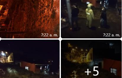 Se presentó deslizamiento de tierra, en el barrio Carlos Parra den Chinchiná