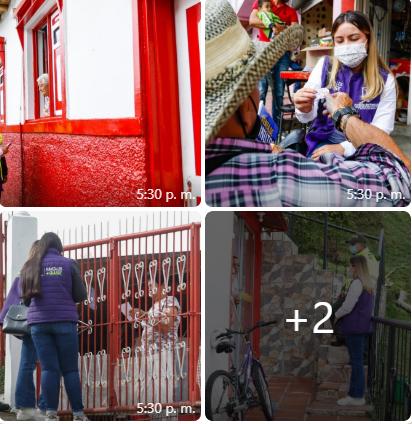 La Secretaría de las Mujeres y Equidad de Género recorre el barrio Cervantes para promover la campaña Mujeres Libres en Casa, que tiene como fin sensibilizar a la población acerca de los derechos de las mujeres.