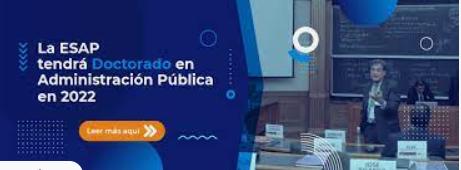 La ESAP tendrá Doctorado en Administración Pública en el 2022