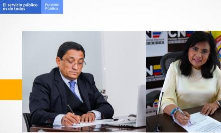 Función Pública firma memorando para fortalecer el Consejo Nacional Electoral