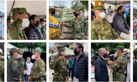 Ejército en Caldas ratifica su compromiso con caficultores y recolectores Durante el lanzamiento del Plan Cosecha, el Ejército refuerza esquemas de seguridad en zonas de Caldas donde se espera la cosecha cafetera.